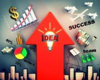 Concept de plan d'affaires Image stock