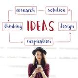 Concept de plan d'idées de jeune entreprise Photo stock