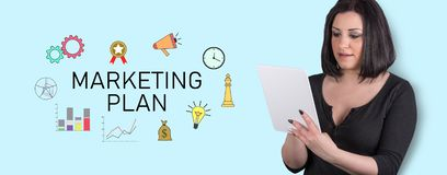 Concept de plan marketing image libre de droits