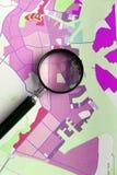 Concept de planification de région de quartier de la ville et de ville Photo libre de droits