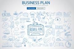 Concept de planification des affaires avec le style de conception de griffonnage illustration libre de droits