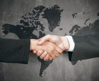 Poignée de main du monde d'affaires Images libres de droits