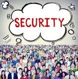 Concept de politique de confidentialité de protection des données de sécurité image stock