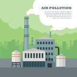Concept de pollution atmosphérique Photographie stock