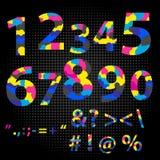 Concept de polygone de lettre de nombre Numéro un à lettre neuf illustration libre de droits