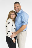 Concept de portrait de studio d'amour de couples Photo stock
