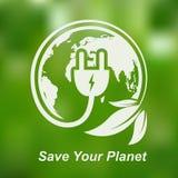 Concept de pouvoir vert Illustration de vecteur Images libres de droits