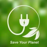 Concept de pouvoir vert Illustration de vecteur Image stock