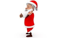 concept de présent de Santa de l'homme 3d Photos libres de droits