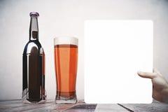 Concept de présentation d'alcool Image libre de droits