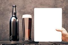 Concept de présentation de bière Photos libres de droits