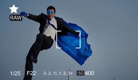 Concept de prévision de photographie de souvenirs de capture de foyer d'appareil-photo photographie stock libre de droits