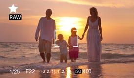Concept de prévision de photographie de souvenirs de capture de foyer d'appareil-photo photo stock
