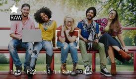 Concept de prévision de photographie de souvenirs de capture de foyer d'appareil-photo photos stock