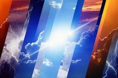 Concept de prévisions météorologiques Photo stock