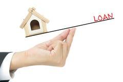 Concept de prêt immobilier Photos libres de droits
