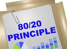 80/20 concept de principe Images stock
