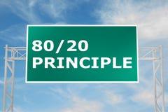 80/20 concept de principe Image stock