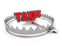 Concept de problème d'impôts Photo libre de droits