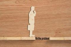 Concept de problème et de difficulté d'un homme d'affaires image libre de droits