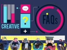 Concept de problèmes de FAQ de foire aux questions illustration de vecteur