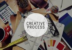 Concept de processus créatif d'inspiration d'innovation de créativité image libre de droits