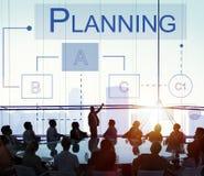 Concept de processus de solutions de discussion de stratégie de planification photo libre de droits