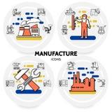 Concept de production et de fabrication illustration de vecteur