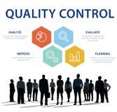 Concept de produit de contrôle de contrôle de qualité Photo libre de droits