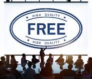 Concept de produit de haute qualité de marque de cadeau gratuit Photos stock