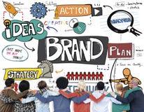 Concept de produit de vente de la publicité de marque déposée de marque Image stock