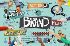 Concept de produit de vente de la publicité de marque déposée de marque Images stock