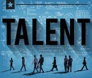 Concept de professionnel d'expertise d'expérience de compétence de talent Photos libres de droits