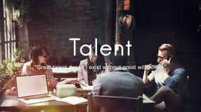 Concept de professionnel d'expertise de capacités de qualifications de talent photos stock