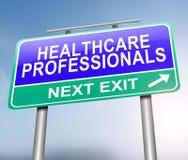 Concept de professionnels de soins de santé illustration stock