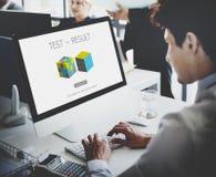 Concept de progrès d'évaluation de développement de résultat d'essai image stock
