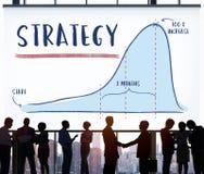 Concept de progrès d'Analytics de rapport de stratégie Photographie stock