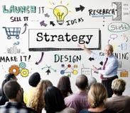 Concept de progrès de déroulement des opérations d'affaires de stratégie de méthode photo libre de droits