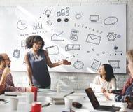Concept de progrès de Marketing Business Corporation Photos stock