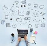 Concept de progrès de Marketing Business Corporation Images stock