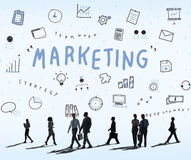 Concept de progrès de Marketing Business Corporation Photos libres de droits