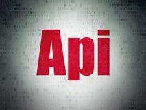 Concept de programmation : Api sur le fond de papier de données numériques Photos stock