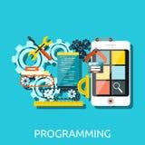 Concept de programmation de développement d'APP Photos libres de droits