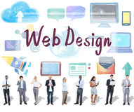 Concept de programmation de mise en réseau de logiciel de web design Photo libre de droits
