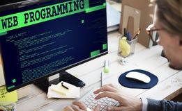 Concept de programmation de technologie de programmateur de logiciel de Web photographie stock libre de droits