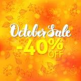 Concept de promo de vente d'octobre Image stock