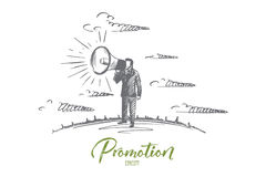 Concept de promotion Vecteur d'isolement tiré par la main illustration de vecteur