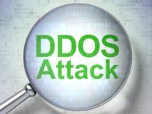Concept de protection : Attaque de DDOS avec le verre optique illustration de vecteur