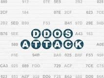 Concept de protection : Attaque de DDOS sur le fond de mur Images libres de droits
