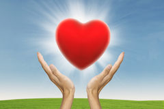 Concept de protection de coeur Images stock